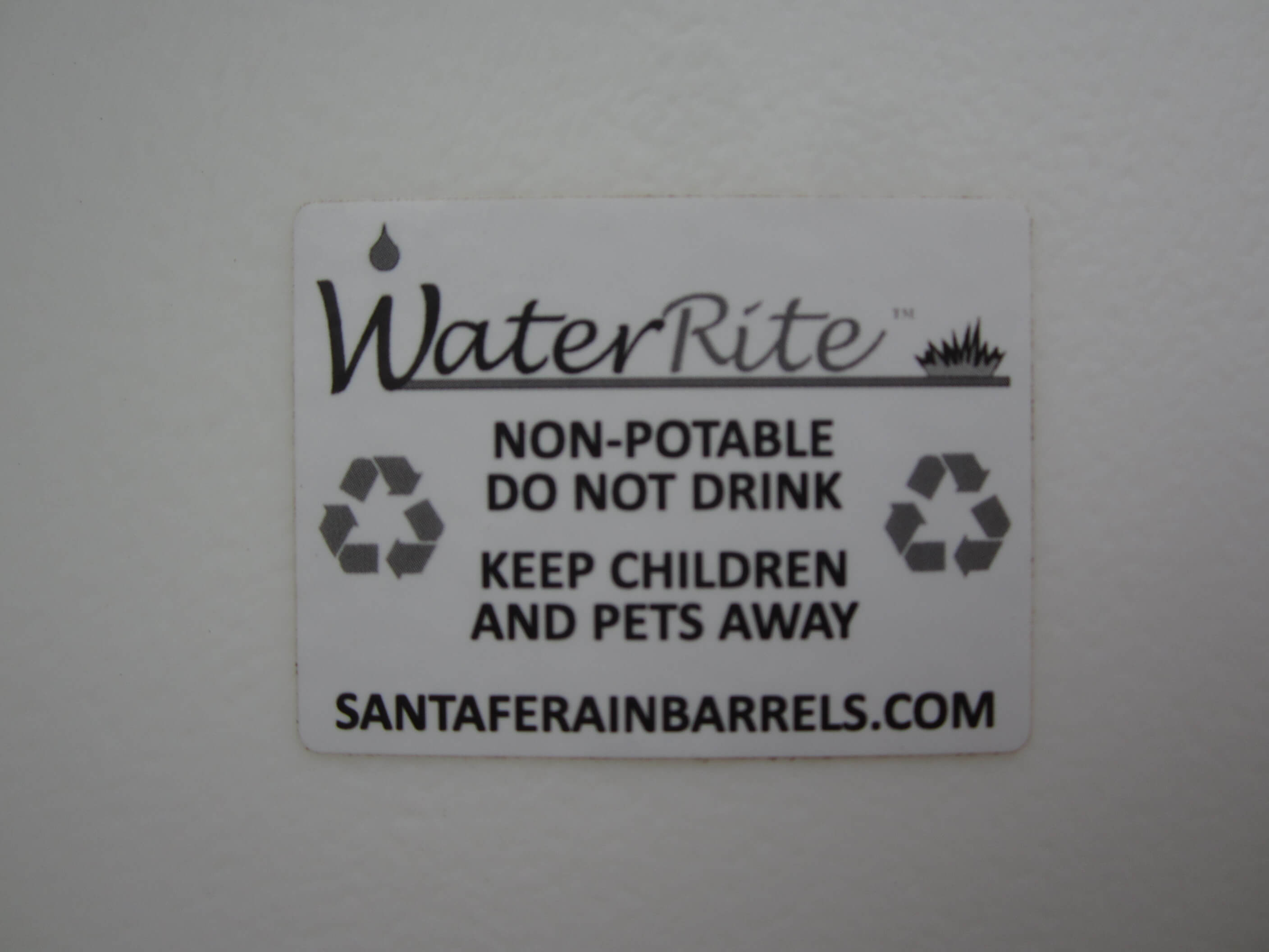 Waterrite Sticker