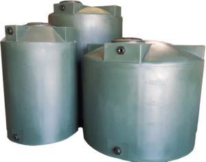 Water Storage Tanks Dark Green