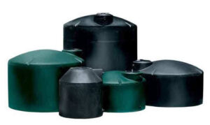 Norwesco above ground black and green water tanks